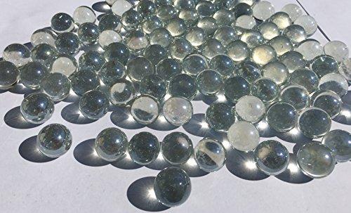 CRYSTAL KING Durchsichtige Glasmurmeln Glaskugeln 16mm Durchmesser 500gr Dekokugeln Transparente Klare Murmel Glaskugeln Dekoglaskugeln Dekoration Murmeln Glaskügelchen Klar