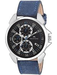 Swisstone FTREK045-BLK-BLU Black Dial Blue Strap Wrist Watch For Men/Boys