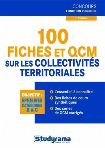 100 fiches et QCM sur les collectivités territoriales