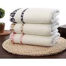 GreForest 3PCS Beige Algodón bordado toalla de mano nubes de suerte Toalla