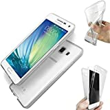 Coque-personnalisable® Coque Silicone Gel Integrale Samsung Galaxy A3 (2016) SM-A310F Transparent 360° Degrés TPU