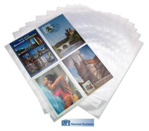 fotohuellen 10x15 25 x SAFE FOTOHÜLLEN DIN A4 NR. 5471-25 - FORMAT 10 x 15 CM - PLATZ FÜR BIS ZU 200 BILDER - IDEAL FÜR FOTOS - URLAUBSBILDER - ALTE / NEUE POSTKARTEN - BANKNOTEN - UNIVERSAL LOCHUNG - DOKUMENTENECHT - TRANSPARENT - WEICHMACHERFREI