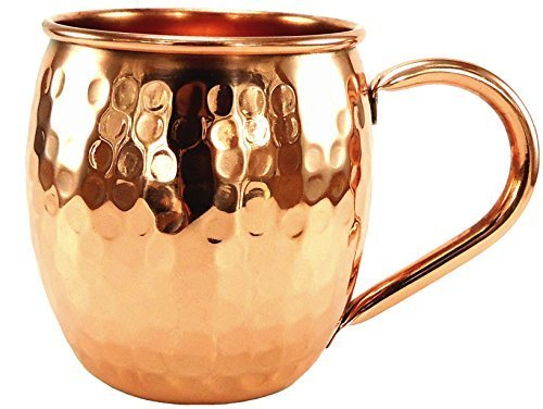 Barrel Hammered Moscow Mule Mug - 16 Oz - 100% Pure Solid Copper Mugs - Handcrafted with No Inner Linings by Akaiger Collections Copper Mugs 16 Oz Barrel Mug