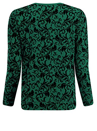 oodji Ultra Damen Sweatshirt mit Flock-Druck Grün (6E29E)