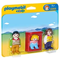 Playmobil 6966 1.2.3 Parents with Baby Cradle - Multi-color