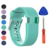 Fitbit Charge HR Bracelet, BeneStellar remplacement bracelets pour accessories de Fitbit Charge HR (Teal, Grand)