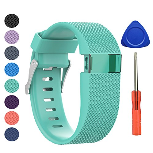 Fitbit Charge HR Bracelet, BeneStellar remplacement bracelets pour accessories de Fitbit Charge HR (Teal, Grand)