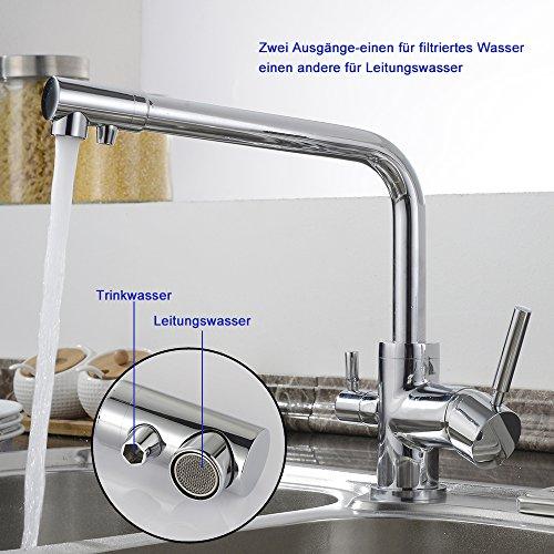 Homelody – Küchenarmatur mit Wasserfilter-Funktion, 360° drehbar, Chrom - 3