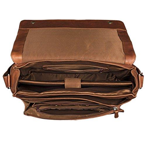 ... STILORD  Lonzo  Vintage Borsa a Spalla Pelle Uomo Donna per PC 15.6  pollici Tracolla ... 43b92f393f3