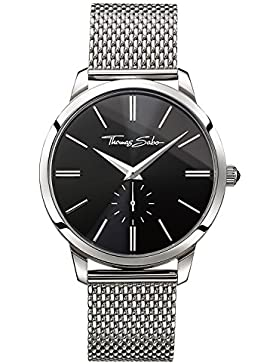 Thomas Sabo Herren-Armbanduhr ETERNAL Mesh Black Analog Quarz Edelstahl WA0152-201-203-42 mm