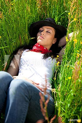 druck-shop24 Wunschmotiv: Sexy Cowgirl #36527857 - Bild auf Forex-Platte - 3:2-60 x 40 cm / 40 x 60 cm