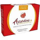 ASTAMINE+ - ASTAXANTHINE 9mg enrichie en zinc et vitamine C - EBO R&D - 30 gélules - 100% d'ingrédients naturels - Produit pour la vision, la fatigue, la microcirculation, le sport, la peau...