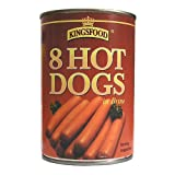 Kingsfood® 8 Hot Dogs In Brine 12 x 400g