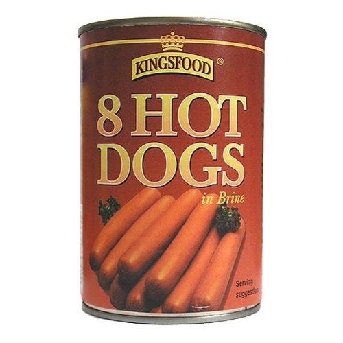 King Food ® 8 Hot Dogs en saumure 12 x 400g