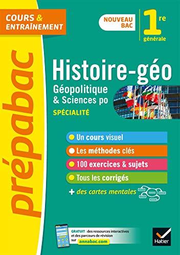 Histoire-géo, Géopolitique, Sciences politiques 1re (HGGSP) - Prépabac: nouveau programme de Première 2019-2020