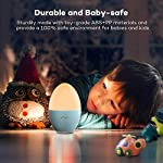 Night Light for Kids, VAVA LED Bedside Lamp for Children, Baby Nursery Lamp for Breastfeeding Safe ABS, Break Resistant, Eye Caring, Adjustable Brightness & Color, Touch Control, 80 Hr Runtime