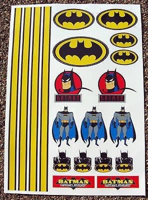 RC BATMAN sticker aufkleber Verbundenen HPI Tamiya (Kostüme Car Racer)