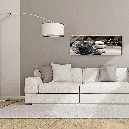 artissimo, Glasbild, 80x30cm, AG1906A, Große Wunder, Spruchbild, Bild aus Glas mit Spruch, Moderne Wanddekoration aus Glas, Wandbild Wohnzimmer modern