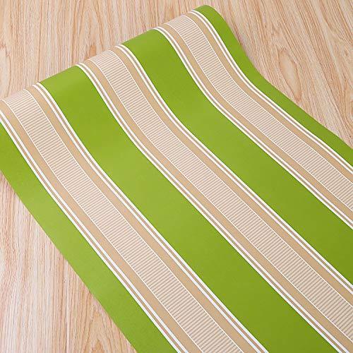 Papel tapiz autoadhesivo grano de madera papel tapiz autoadhesivo dormitorio a rayas papel tapiz autoadhesivo papel tapiz autoadhesivo impermeable 5082 verde 45 cm