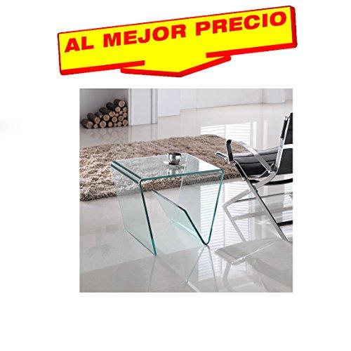 MESA BAJA DE CRISTAL ESPECIAL PARA SALON 55X45 CM MODELO STIRLING