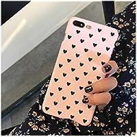 Preisvergleich für OVVO Einzigartiges Desigh iPhone 7P / 8P Erfrischende Liebe Scrub Hard Shell Phone Cover Liebhaber Telefon Fall für Geschenk (Pink)