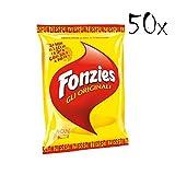 50x Fonzies Maissnack mit Käse 100g chips mais italien