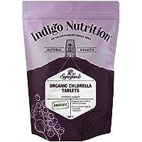 Indigo Herbs Tabletas de Clorella de pared celular rota orgánica - 1000 comprimidos ...