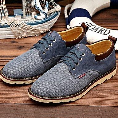 Chaussures d'hommes synthétique extérieur/Tulle Oxford bleu/marron/gris Gray