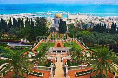 "Leinwand-Bild 30 x 20 cm: ""Bahai Gardens in Haifa Israel"", Bild auf Leinwand"