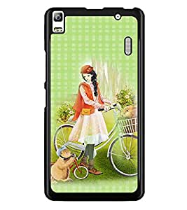 PrintDhaba Princess and Friends D-2820 Back Case Cover for LENOVO A7000 TURBO (Multi-Coloured)