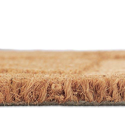 Relaxdays Fußmatte Anker Kokos, HxBxT: 1,5 x 60 x 40 cm, rutschfest, rechteckig, für Haustür, Kokosfasern, Gummi, natur - 4
