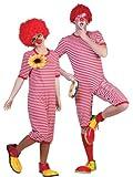 Clown Kostüm Badeanzug Rot Weiß Gr. XL
