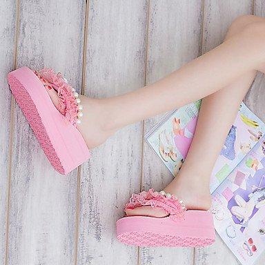 Molla di sandali Comfort PU Outdoor tacco piatto Blushing Pink