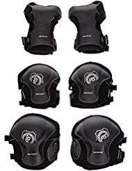 Powerslide Schoner Pro Tri-Pack - Conjunto de protecciones, color negro, talla L