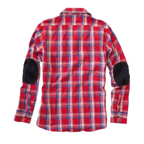 Surplus Homme à carreaux Chemise manches longues Red Blue