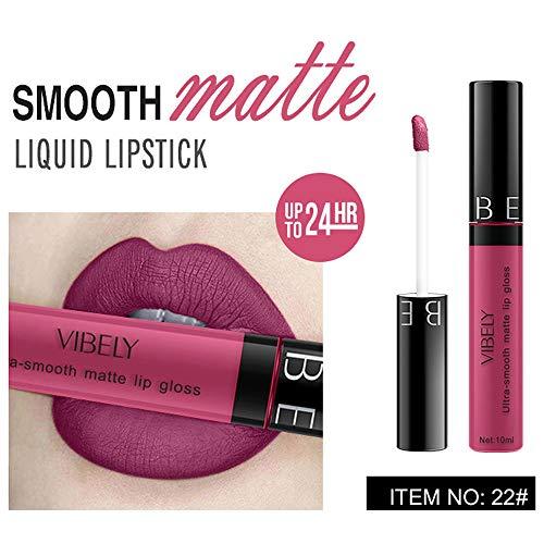 Rouge à Lèvres Liquide Brillant Liquide Cosmétique deImperméable de Waterproof Longue Durée Gloss Lip Liner Cosmétiques (B)