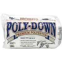 Hobbs de poliéster de bateo Polydown, poliéster, Blanco, 305x305x1 cm