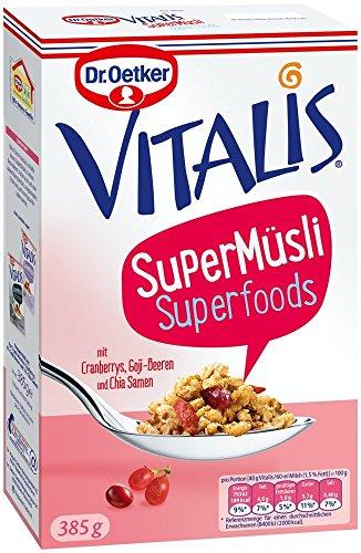 Mit Samen Chia Haferflocken (Dr. Oetker Vitalis SuperMüsli Superfoods, 385 g)