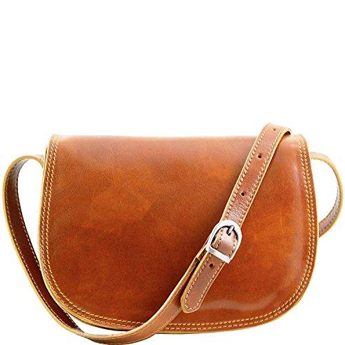 Tuscany Leather - Isabella - Borsa in pelle da donna Nero - TL9031/2 Miele