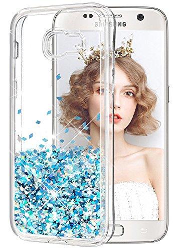 wlooo Cover per Samsung Galaxy A5 2017, Glitter Bling Liquido Floating Custodia Sparkly Luccichio TPU Silicone Cover Protettivo Morbido Carino Lucido Brillantini Trasparente Movimento Quicksand Case