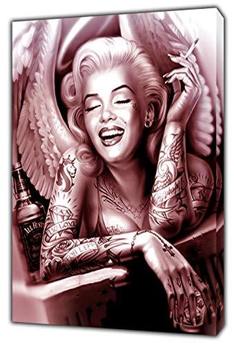 Marilyn Monroe Engel-Fotobild, gerahmt, auf gerahmter Leinwand, 30'' x 24'' inch(76x 60 cm)-38mm depth -
