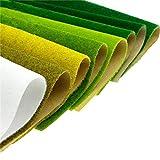Sixam Kunstrasenmatte Züge Modell Grün Weiß Gelb 20 × 40/20 × 99 Für Dekoration Kinder Handwerk Landschaft Modell DIY (7 farbe)