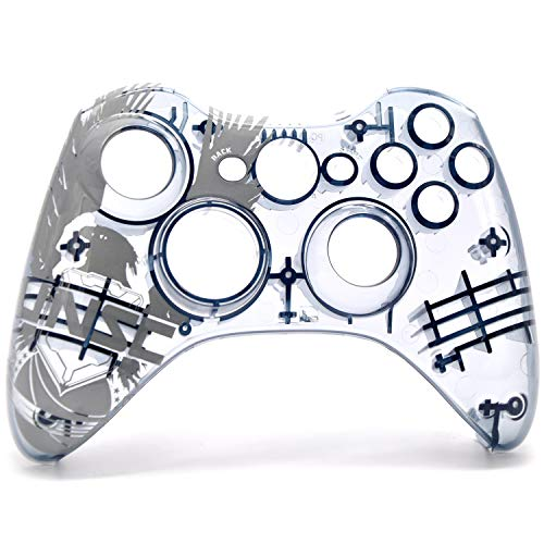 Xbox 360 Controller Frontblenden transparent Front Faceplate for Halo 4 Edition