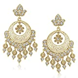MEENAZ White Golden Kundan Pearl Daimond...