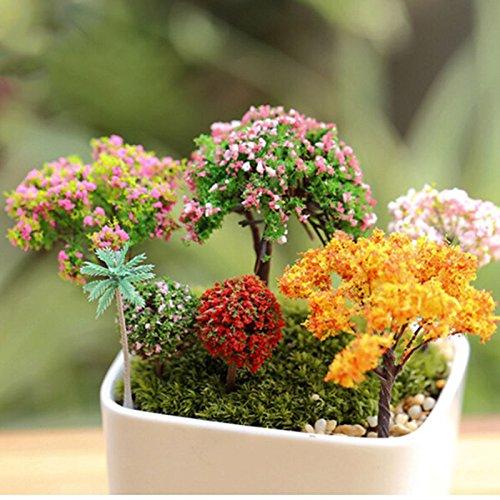 yixuan 6Stück Miniatur Fairy Garden Ornament Bäume DIY Puppenhaus Plant Home Dekoration, 5–7cm (Fairy Zubehör Für Erwachsene)