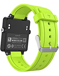 MoKo Garmin Vivoactive / Vivoactive Acetate Sport Armband - Silikon Ersatz-Uhrenarmband Uhrenarmband Einstellbar Armband Replacement Wechselarmband watch band für Garmin Vivoactive / Vivoactive Acetate Sports GPS-Smartwatch, Grün