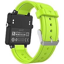 MoKo Garmin Vivoactive HR Correa de Reloj, Suave Silicona Reemplazo Watch Band para Garmin Vivoactive HR Deporte GPS Smart Watch con Pins y Herramientas Adaptador - Verde
