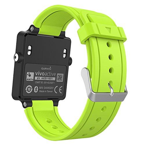 MoKo Garmin Vivoactive Watch Cinturino, Braccialetto di ricambio in Silicone per Garmin Vivoactive / Vivoactive Acetate Sports GPS Smart Watch, Verde