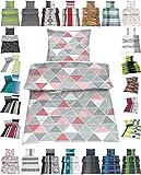 Microfaser Bettwäsche Set 2 Größen viele schöne Designs, 135x200 cm Kissenbezug 80x80 cm Amy