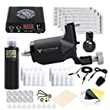 Dragonhawk Tattoo Kits Extreme Rotary Tattoo Machine Mini Power Supply Needles DML-1